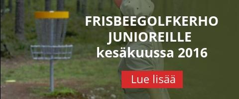 Frisbeegolfkerho junioreille kesäkuussa 2016
