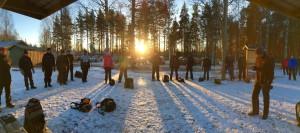 Pelaajakokous käynnissä. Kuva: Mikko Makkonen